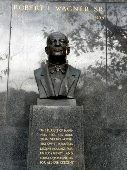 The Robert F. Wagner statute in East Harlem.  Image credit: Flickr