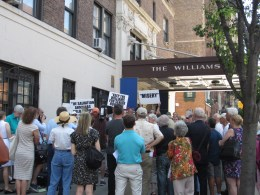 Coalition rallies to save the Williams Memorial Residence, June 18, 2014. Image Credit: CityLaw.
