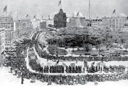 First Labor Day parade in New York City, 1882.  Image credit: Union Square Community Coalition