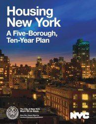 Mayor Bill de Blasio proposed a 10-year affordable housing plan that set the tone for land use in 2014. Image credit: NYC.gov