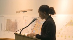 Nicole Clare of the Settlement Housing Fund testifies before the City Planning Commission. Image credit: CPC