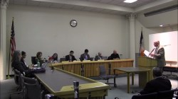 Eric Palatnik testifies before the Board of Standards and Appeals. Image credit: BSA