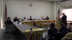 Jeff Smilow testifies before the Board of Standards and Appeals. Image credit: BSA