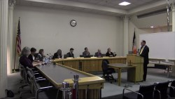 Fredrick Becker testifies before the Board of Standards and Appeals. Image credit: BSA