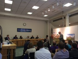 David Kramer, principal of the Hudson Companies, testifying before the City Planning Commission. Image credit: CityLand