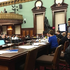 Council Member Rafael Espinal questioning the panel of Mayoral Administration representatives. Image credit: CityLand