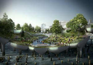 Pier 55 Project Rendering. Image Credit: Heatherwick Studio