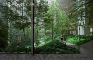 Garden Landscape rendering. Image Credit: Gensler.