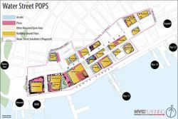 Proposed rezoning of the Water Street POPS. Image credit: Department of City Planning