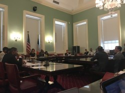 City Council Subcommittee on Zoning and Franchises hearing testimony at the August 9th hearing. Image credit: CityLand