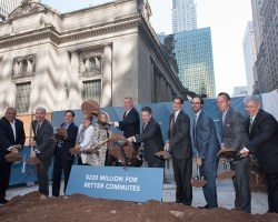 City Officials Break Ground at One Vanderbilt. Image Credit: Office of the Mayor