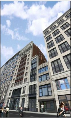 Artist Rendering of 34 West 21st Street. Image Credit: LPC.