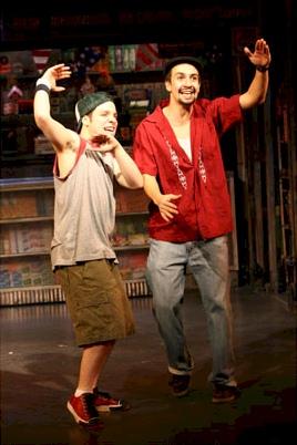 Robin de Jesús and Lin-Manuel Miranda