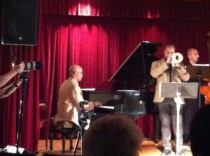 Carlton Holmes on piano and Waldron Ricks on trumpet
