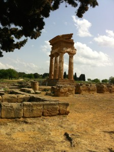 Remains of the temple of Castor and Pollux, Agrigento