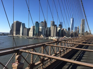 Brooklyn Bridge, looking toward Manhattan