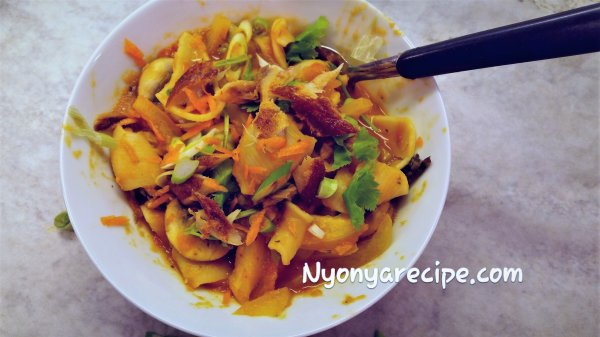 pasta, makerel, fish, nyonya, Peranakan,