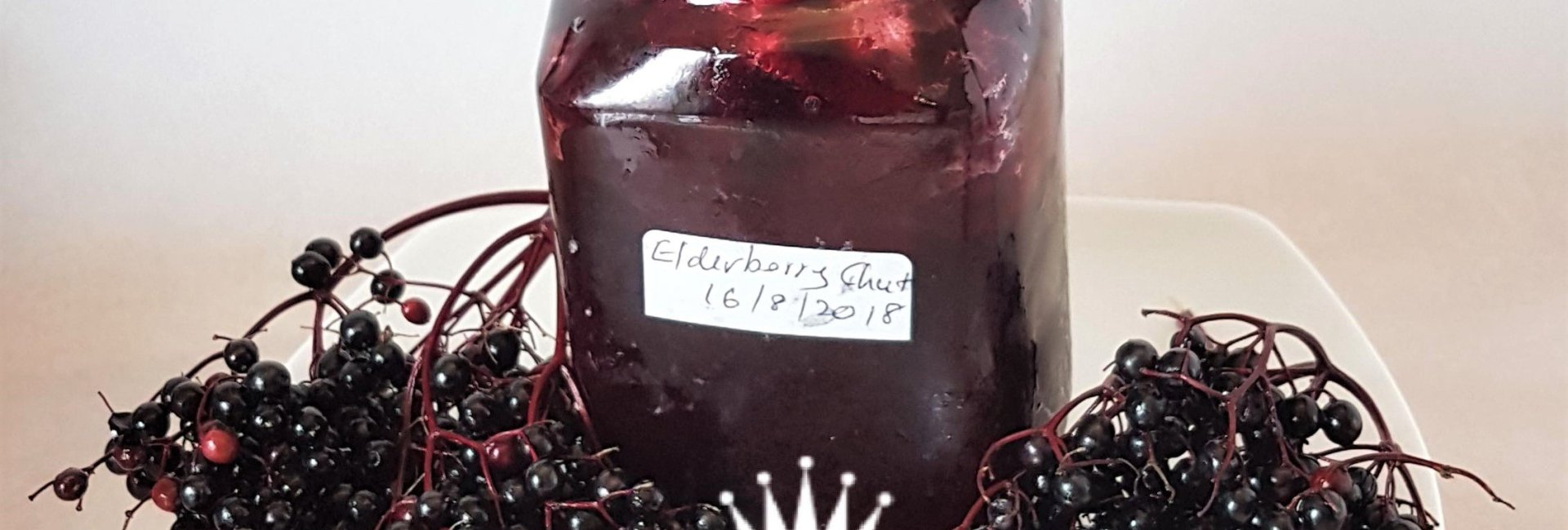 Elderberry Chutney ready to be eaten, on a spoon..
