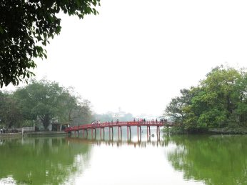 The bridge towards the temple.