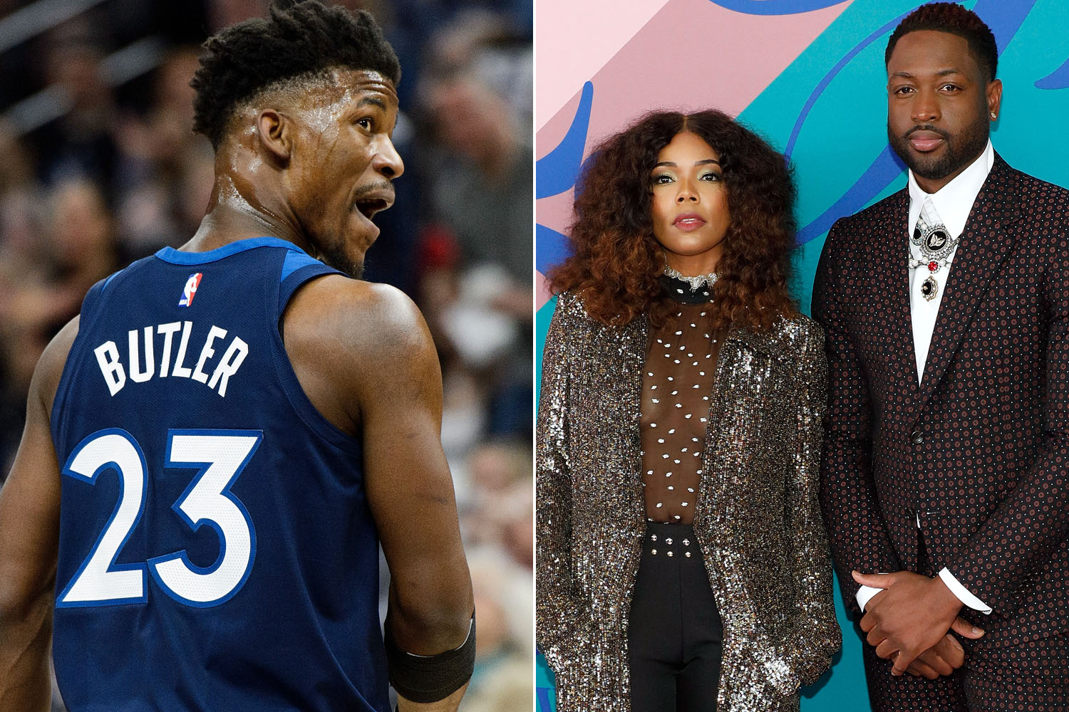 Dwyane Wade Catches Jimmy Butler Slobbering Over His Wife Gabrielle Union