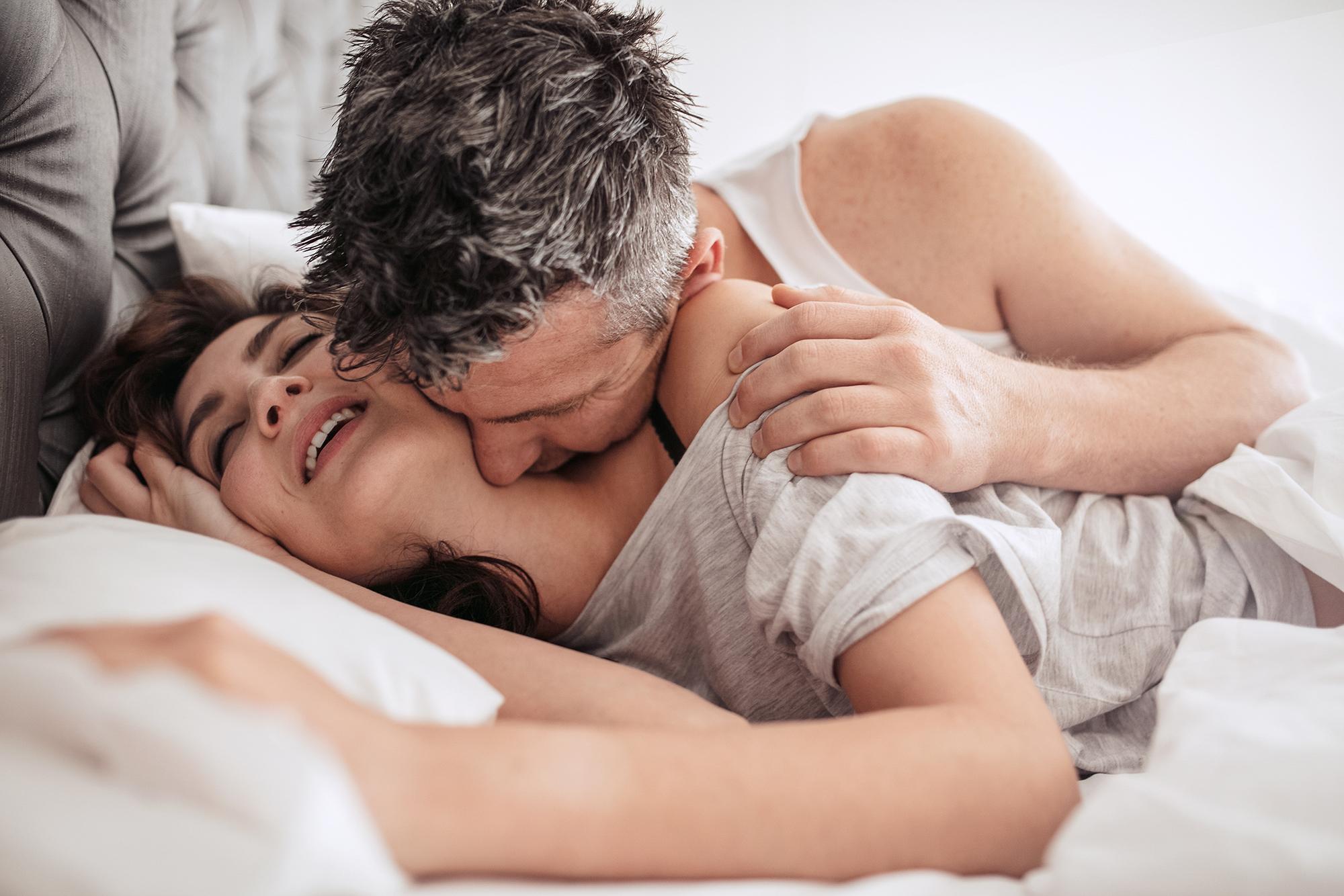 When a man kisses your neck
