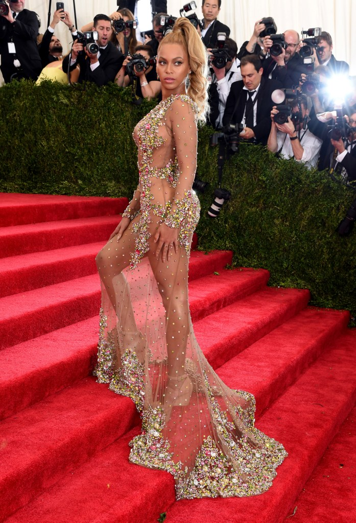 """Beyonce attends the """"China: Through The Looking Glass"""" Costume Institute Benefit Gala at the Metropolitan Museum of Art on May 4, 2015 in New York City."""