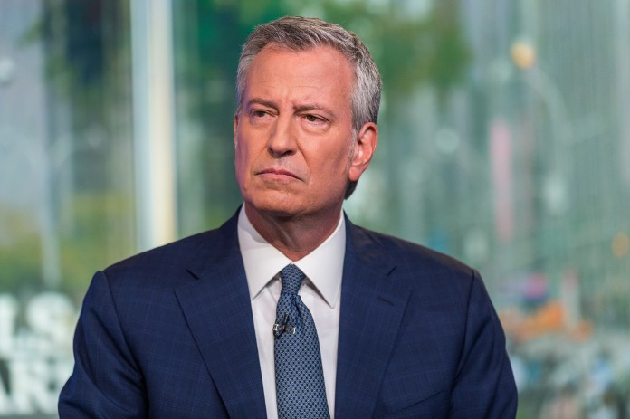 Bill de Blasio worked just seven hours at City Hall in May