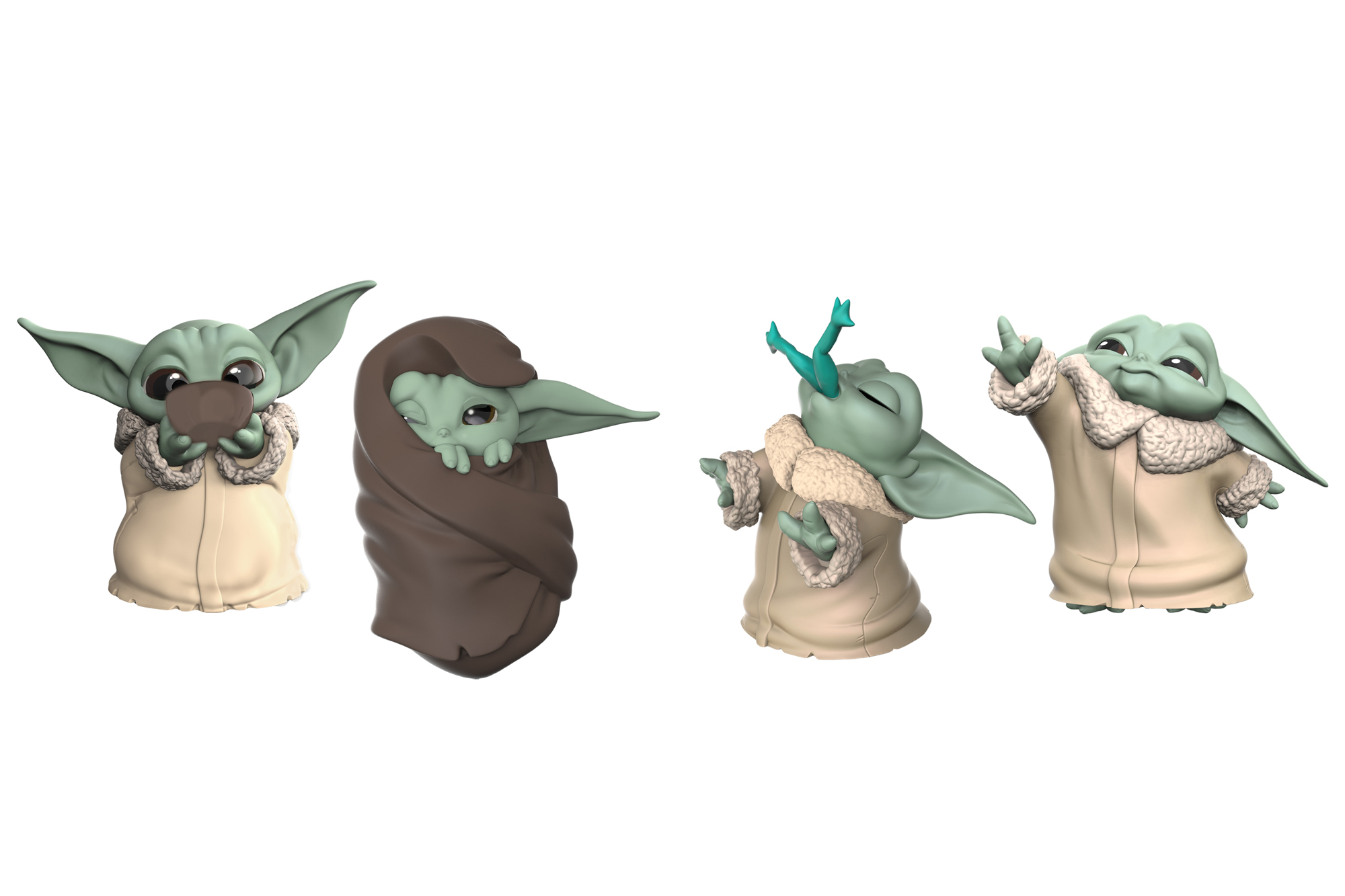Hasbro S Baby Yoda Talking Plush Dolls Even Have The Bowl Of Soup