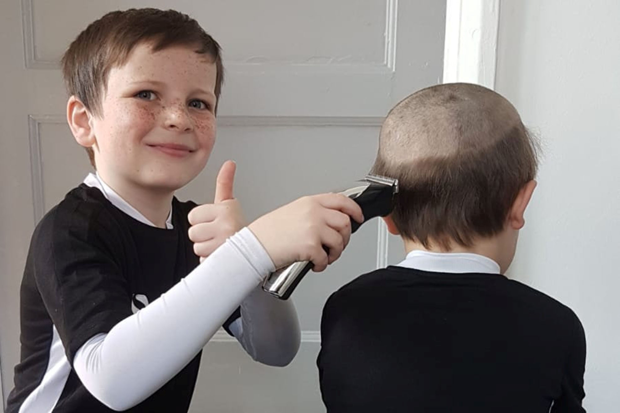 Kid Gets Old Man Haircut After Begging Brother For A Trim