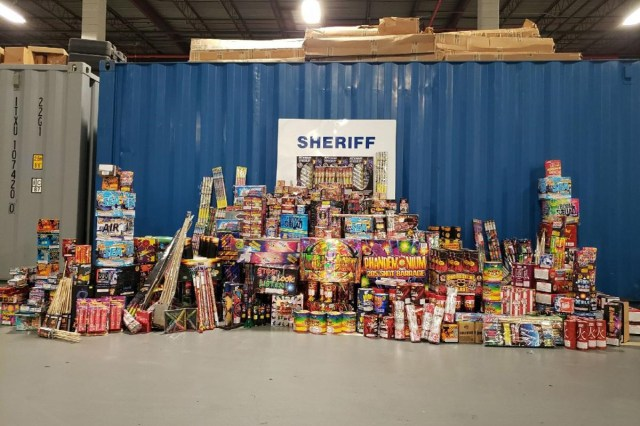 A photo of the fireworks shared by the City Sheriff on Twitter