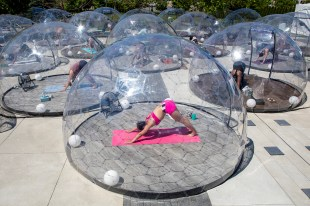 Hot-yoga domes could be the new social-distancing fitness craze