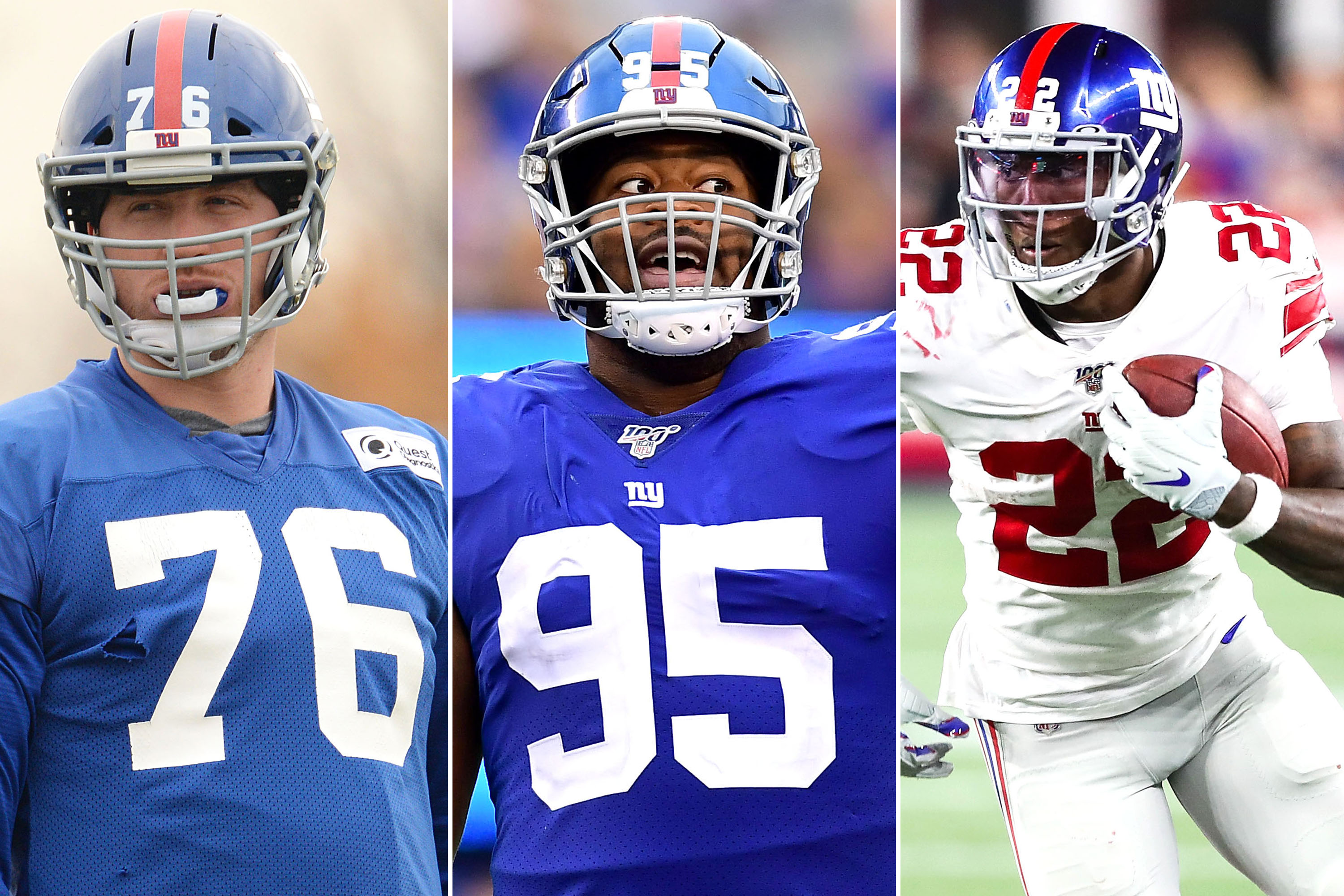 Giants' Nate Solder, B.J. Hill and Wayne Gallman must step it up