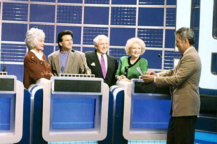 Golden Girls, Bea Arthur, David Leisure, Betty White, Alex Trebek, 1985-92, Episode 'Questions And A
