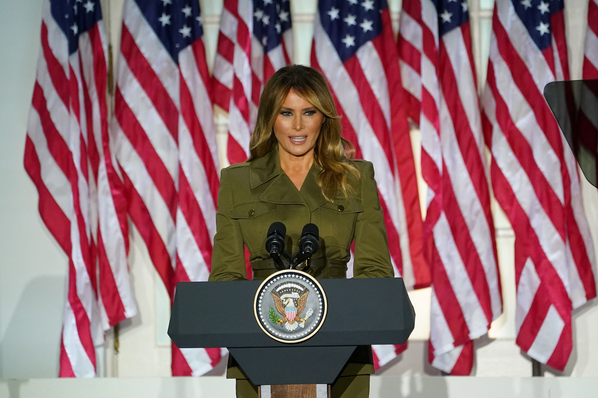 Rnc 2020 Melania Trump Offers Assurance Amid Pandemic From Rose Garden