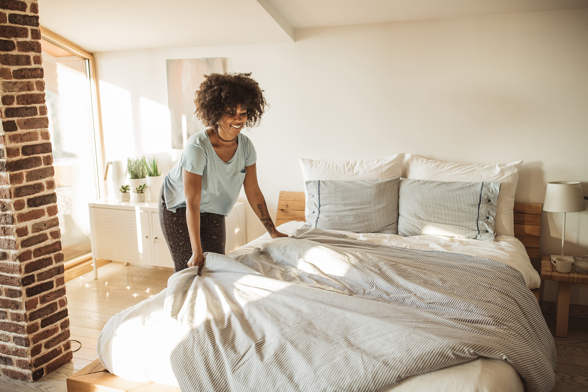 Survey says bed-makers are getting better sleep and having more sex