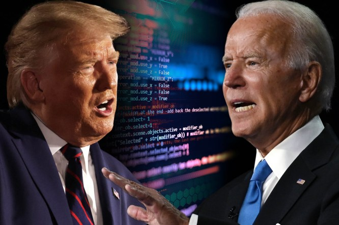 Internet trolls redirect strange sites to Trump, Biden campaign pages