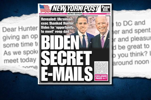 Zdjęcie kompozytowe NY Post z przednią okładką.