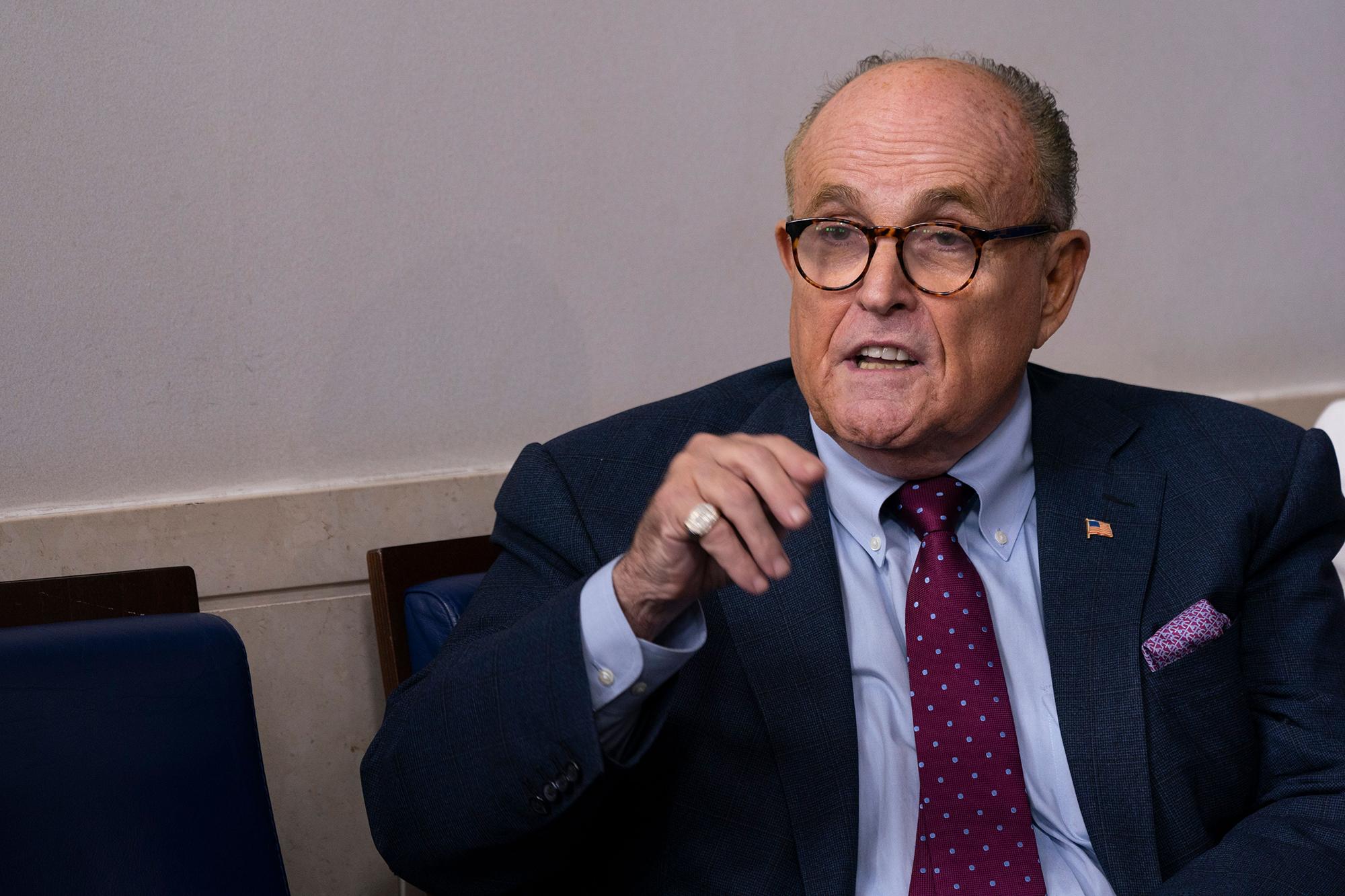 Rudy Giuliani thinks he's dodged COVID-19 since Trump meeting