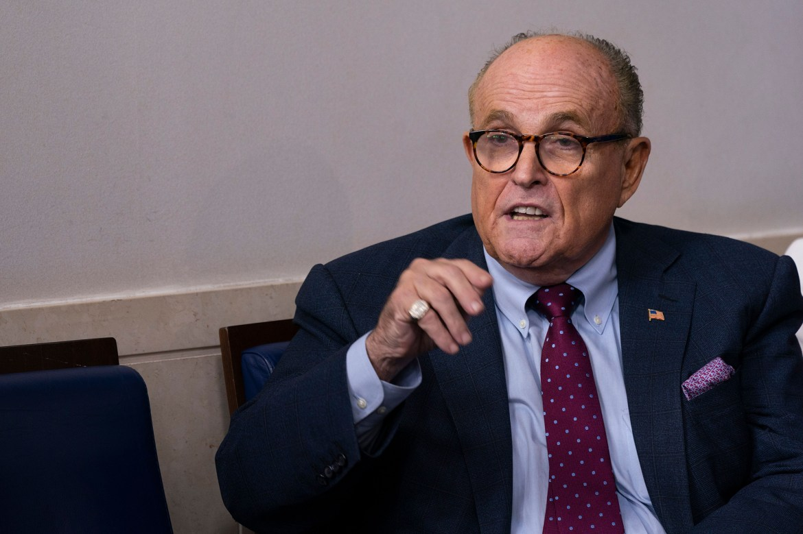 Rudy Giuliani thinks he's dodged COVID-19 since last meeting with Trump 1