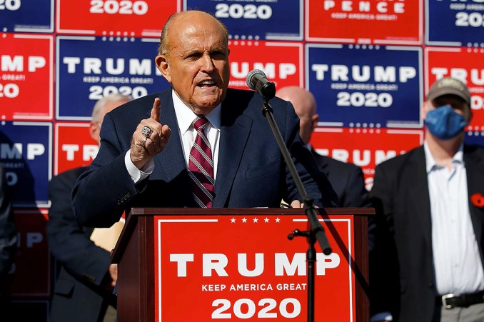 Trump puts Rudy Giuliani in charge of 2020 election lawsuits
