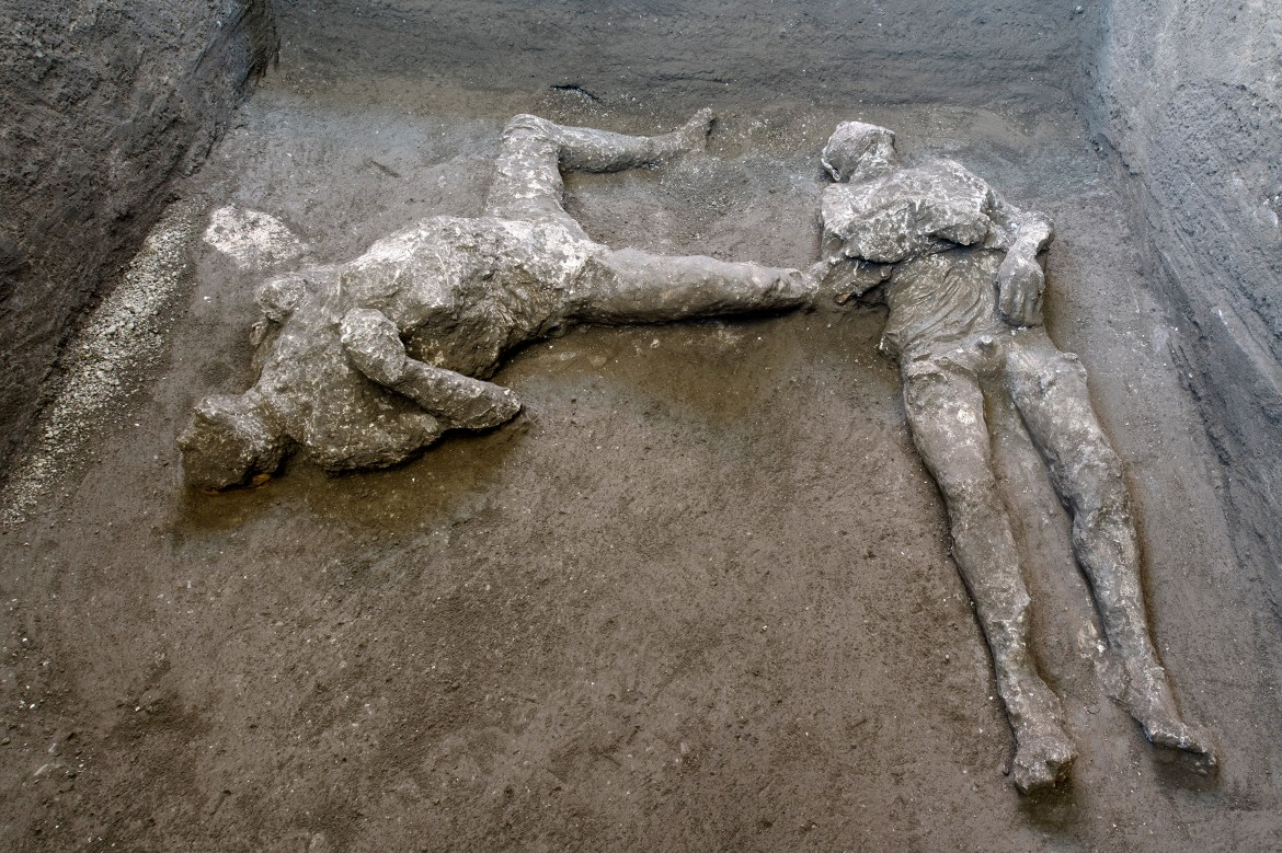 Two bodies — master and slave — unearthed in ruins of Pompeii villa 1