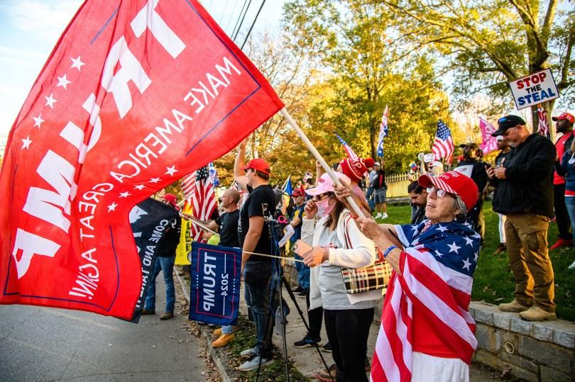 Trump supporters Ga protests 2