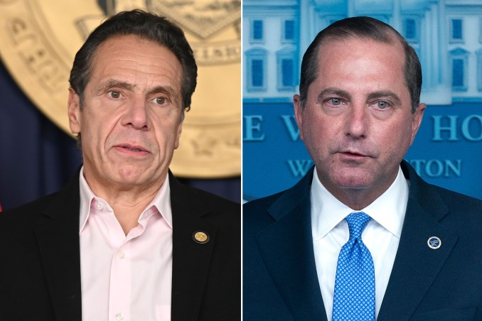 Andrew Cuomo snubbed Alex Azar, skipped 17 White House meetings
