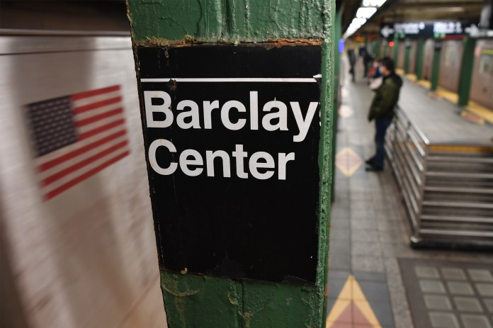 Barclay Center subway station in Brooklyn