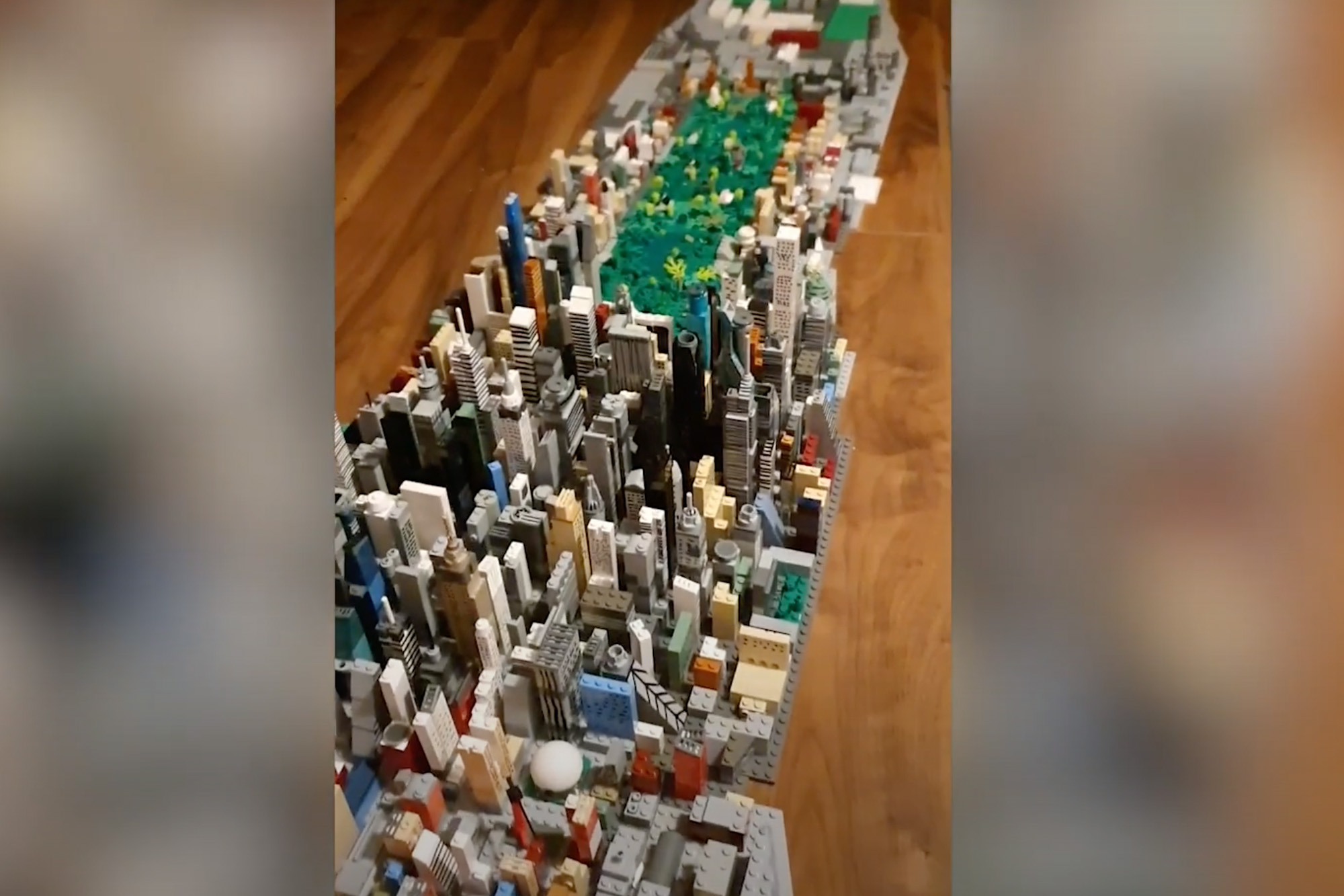 Teen builds incredible Manhattan replica out of Legos