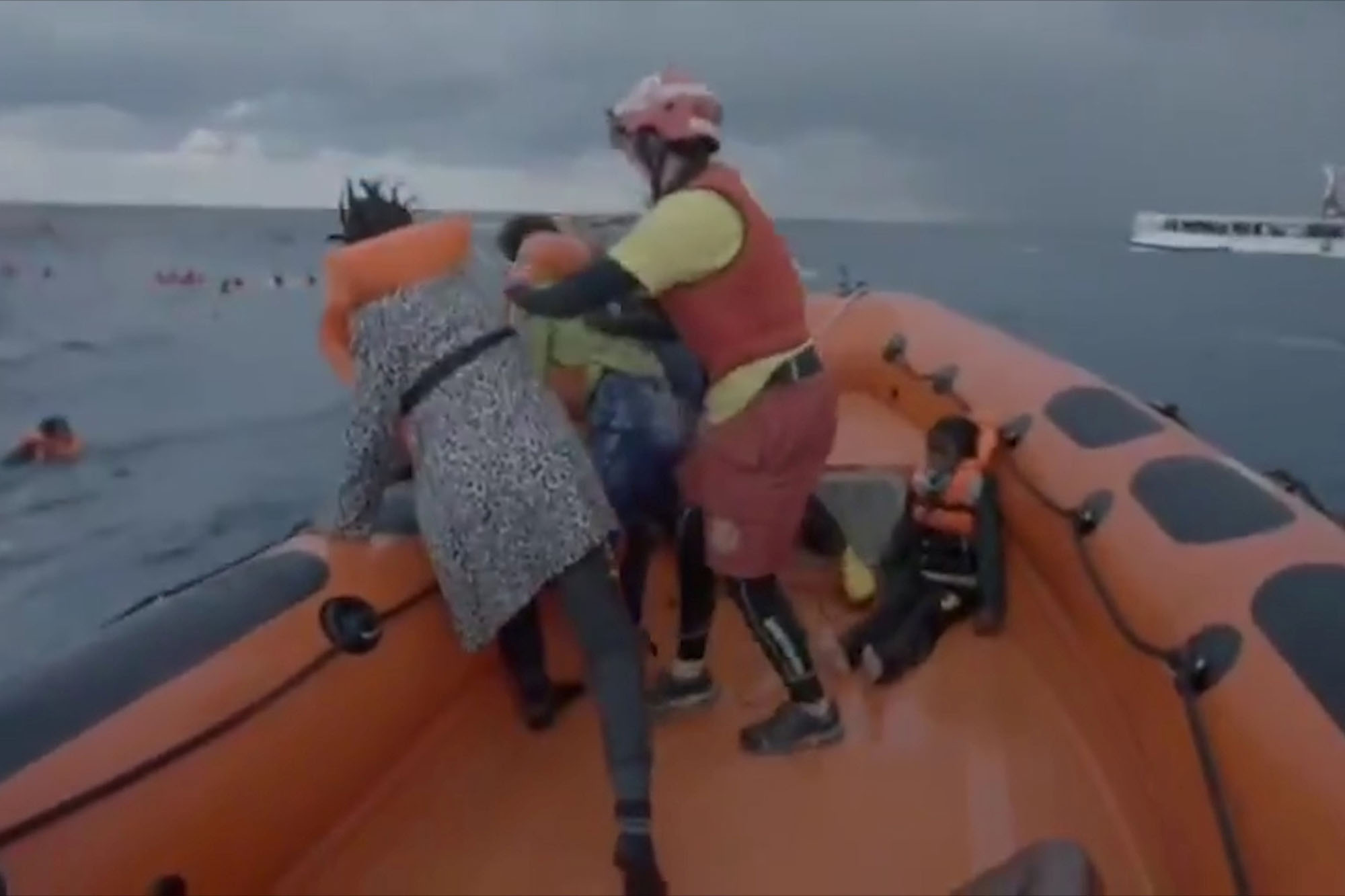 Mom cries 'I lost my baby!' after migrant boat accident kills 74