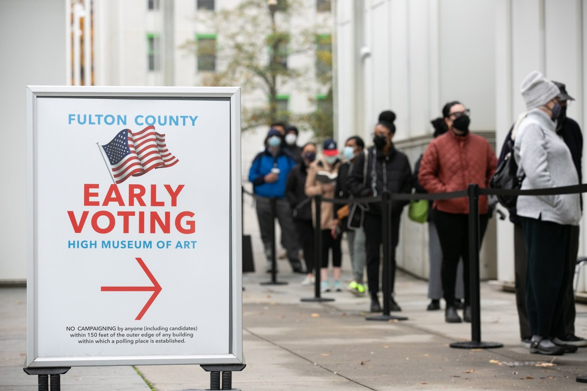 Record 8,000 people volunteer as poll watchers for Georgia Senate runoffs 1