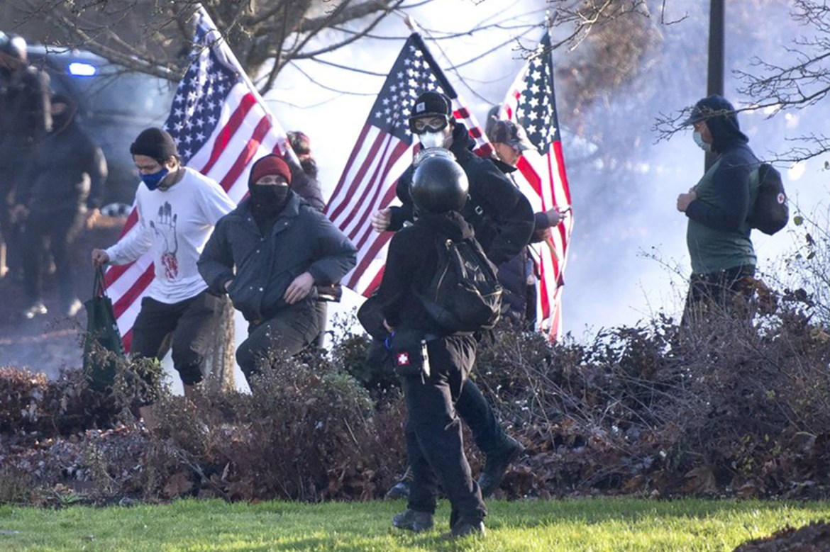 One person shot at a violent protest in Washington state 1