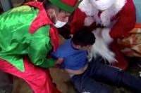 Peruvian cops dress up as Santa Claus, elf for drug raid