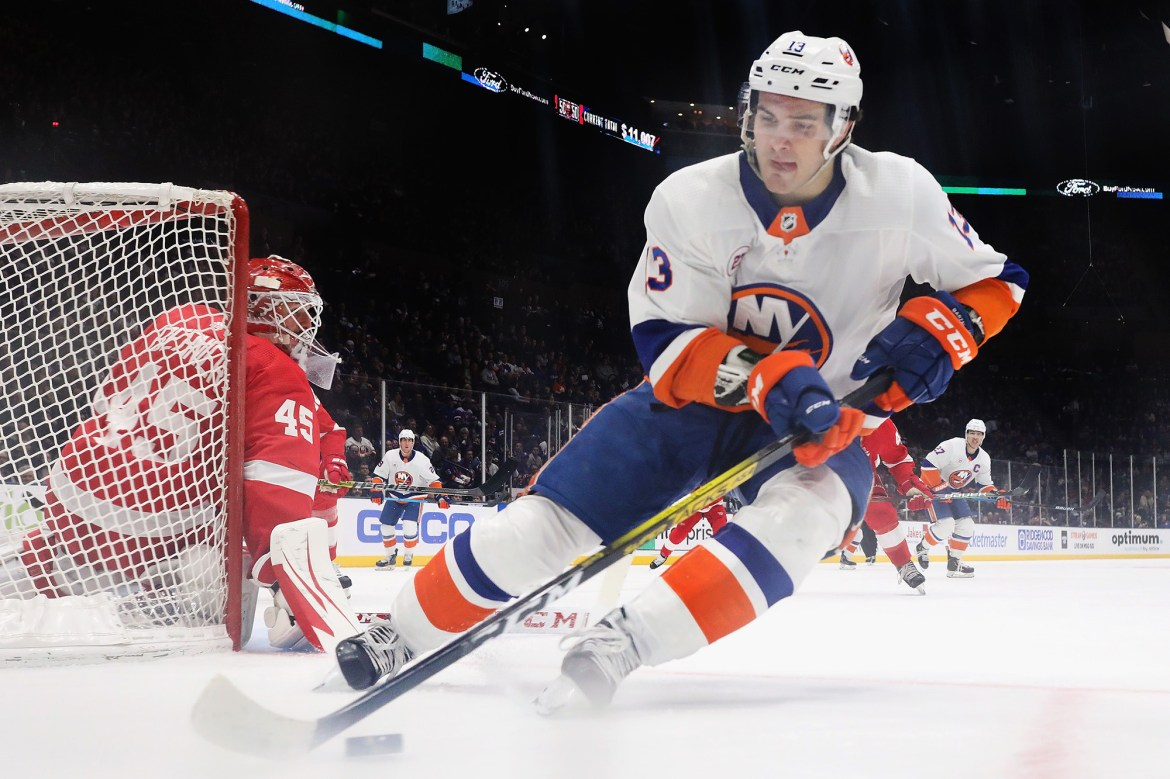 Mathew Barzal still nowhere to be found at Islanders camp 1